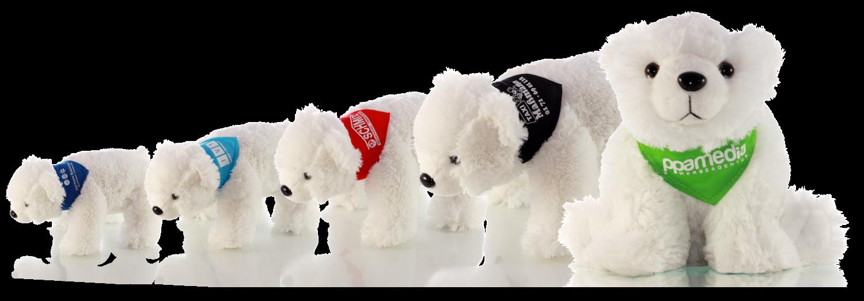 Branding - Eisbären mit bedrucktem Halstuch