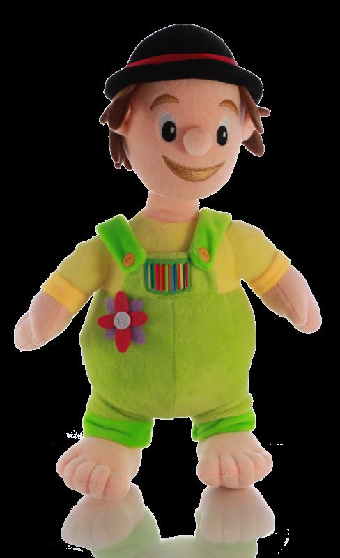 Promotion Plüschfigur Junge mit grüner Latzhose und Hut