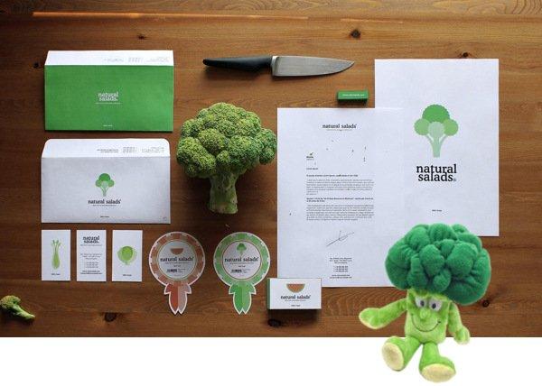 Coporate Design Brokkoli Print und Plüsch