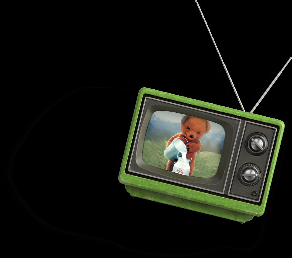 Maskottchen Bärenmarke im TV