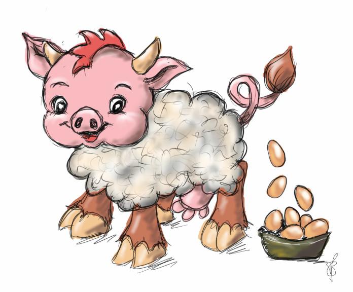 Wollmilchsau Zeichnung